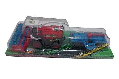 Игрушка детская:Комбайн с прицепом 47x16x12.5см