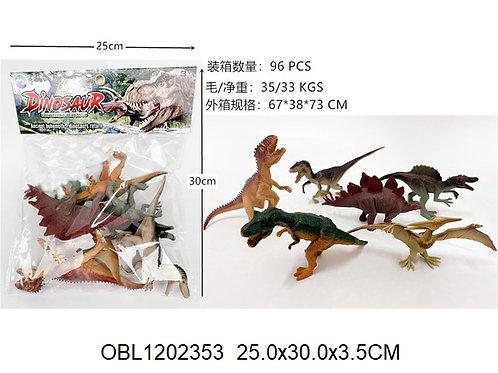 Купить игрушку динозавры 6 шт/пакет