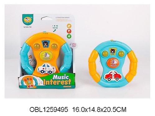 Купить игрушку руль музыкальный 2 цвета
