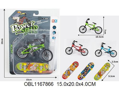 Купить игрушку минискейт+велосипед 3 цвета