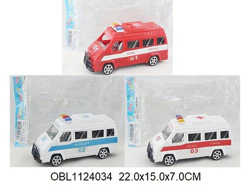 Купить игрушку машина инерц. микроавтобус 3 вида