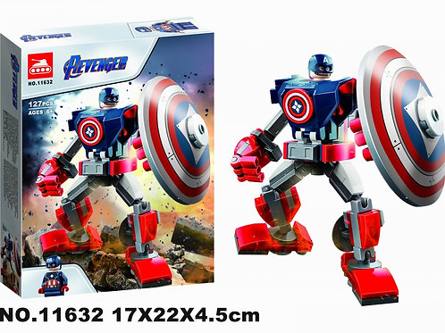 "Конструктор 11632 Super Heroes ""Капитан Америка робот"" 127 дет. в коробке 17х22х"