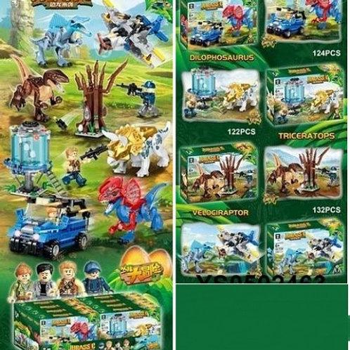 """Конструктор QL1729 Dinosaur World """"Нападение динозавров"""" 8 шт. в упаковке 24х16х"""
