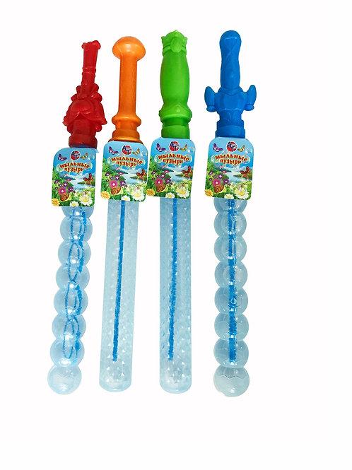 Купить игрушку меч с мыльными пузырями (200 мл ) 24 шт/блок