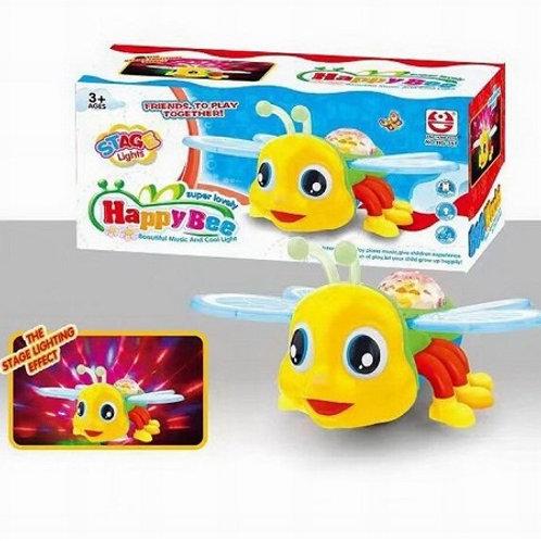 """Музыкальная игрушка """"Пчелка"""" свет+звук на батарейках в коробке"""