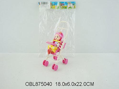Купить игрушку кукла с коляской 2 цвета