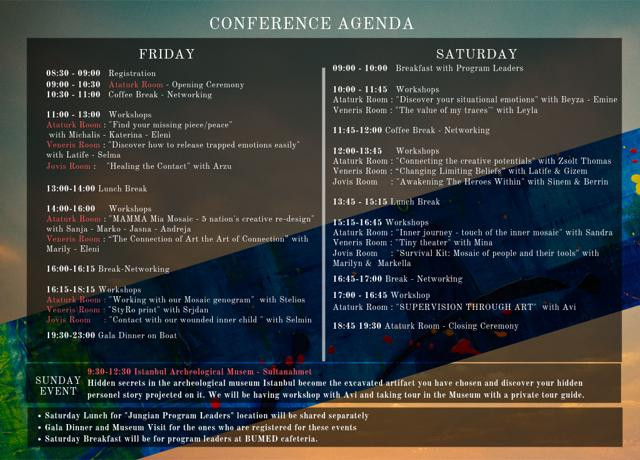 The 5th International Expressive Arts Therapy & Coaching Conference Agenda