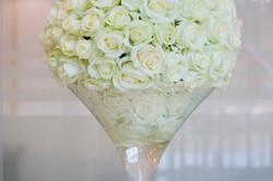 La décoration de la table des mariés