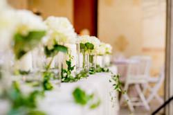 Les fleurs de la table d'honneur