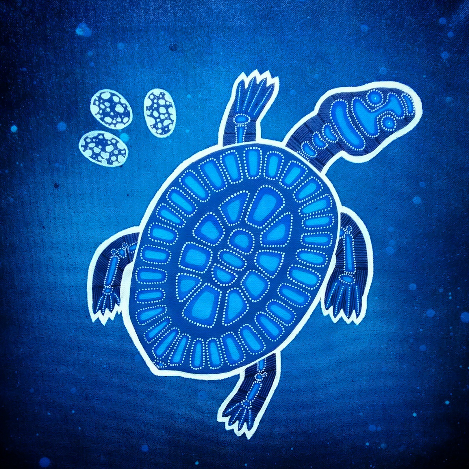 Mother Turtle Canvas