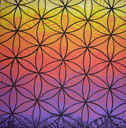 Flower of Life Pattern Canvas