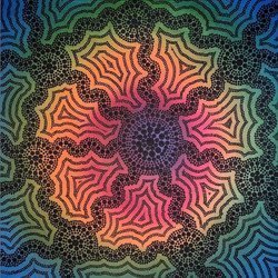 Central Rainbow Canvas