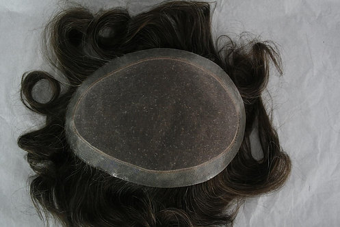 Prótese capilar full lace com borda de silicone