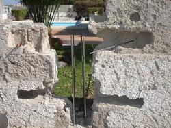 Refuerzo muro linde Puerto Cruz