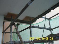 Saneamiento estructura escalera La Matanza