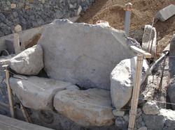 Banco de piedra