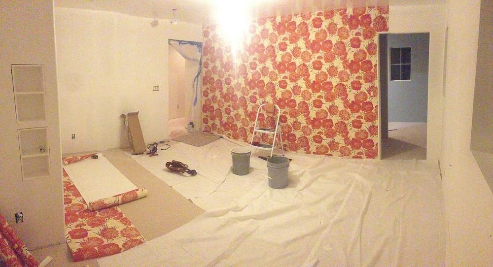 Wallpaper going up
