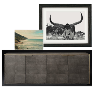 art and sideboard