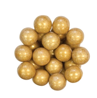 "Gumball - Shimmer Gold (1"")"