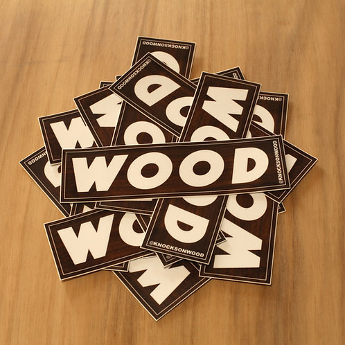 """Wood"" Sticker"