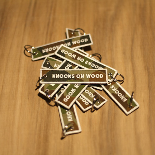 Knocks On Wood Flight Tag, Camo