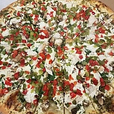 European Gourmet Feta Cheese Pizza