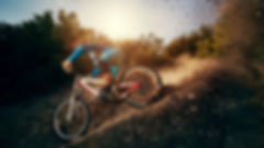 A woman on a road bike