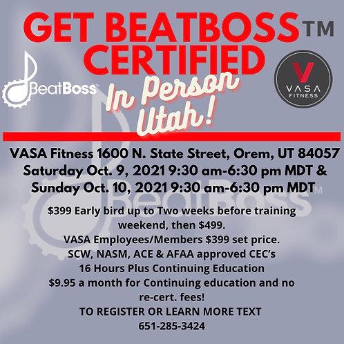 Get BeatBoss Certified In Person Utah at Vasa Fitness