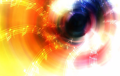 Abstract colorful music-themed artwork