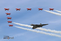 Avro Vulcan XH558 and the Red Arrows RIAT 2015