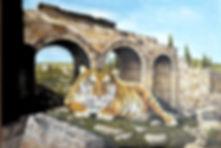 Tiger in Roman Ruins 24x36.jpg