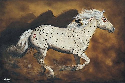 Appaloosa War Pony 24x36