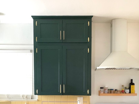 Refinishing My Kitchen Cabinets