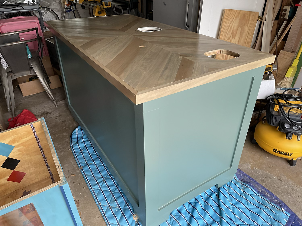 dil butcher block counter stained and sealed