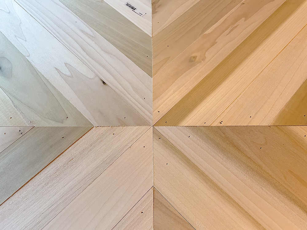 geometric countertop pattern