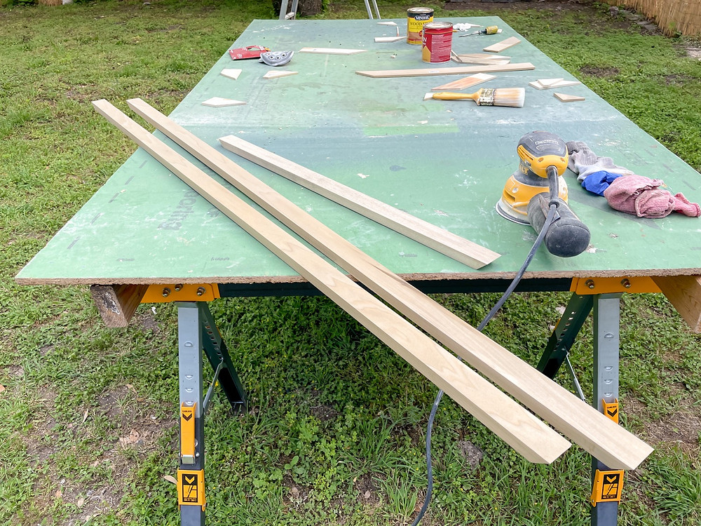 poplar countertop trim cut down to size