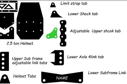 Custom 2.5ton 4 link kit (adjustable mounts