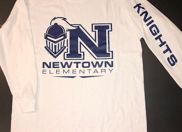 "White ""Knights"" Long-Sleeve T-Shirt"