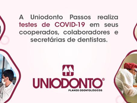 Uniodonto Passos realizou testes de COVID-19 em seus colaboradores e cooperados