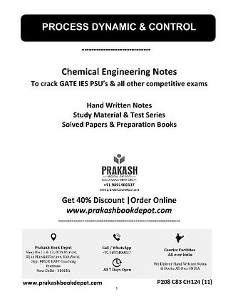 Chemical Engineering Notes: Process Dynamic & Control