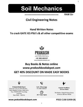 Civil Engineering Notes: Soil Mechanics