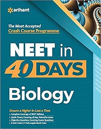 40 Days Crash Course for NEET Biology - Arihant