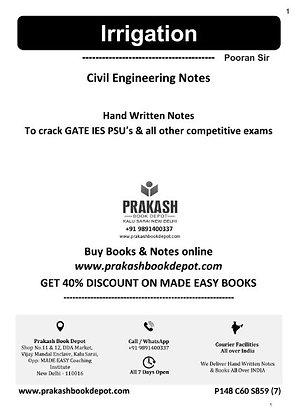 Civil Engineering Notes: Irrigation