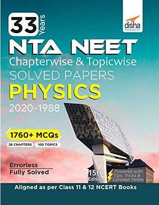 33 Year's Chapterwise AIPMT & NEET Physics 2021 - Disha