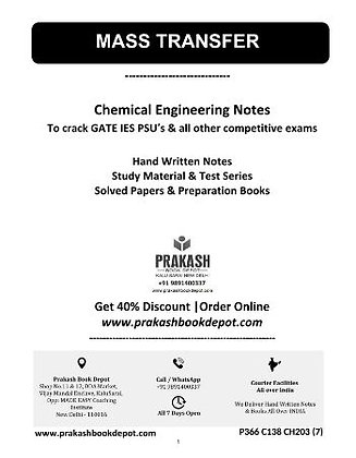 Chemical Engineering Notes: Mass Transfer