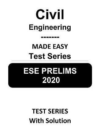 Civil Engineering ESE Prelims (Obj.) Test Series 2020 - Made Easy