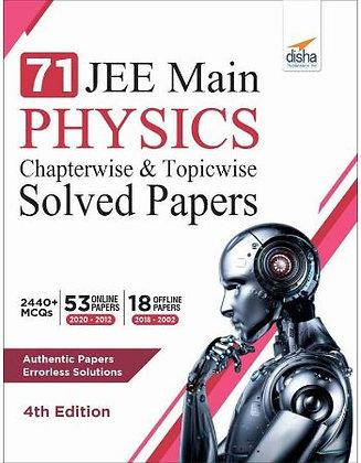 71 Jee Main Physics Online (2020 - 2012) & Offline (2018 - 2002) - Disha