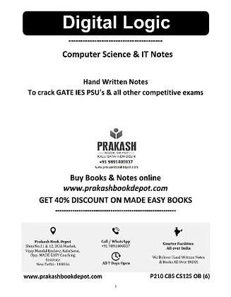 Computer Science Notes: Digital Logic