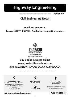 Civil Engineering Notes: Highway