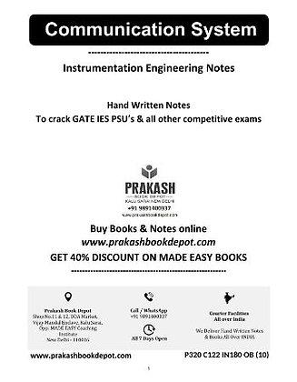 Instrumentation Engineering Notes:Communication System